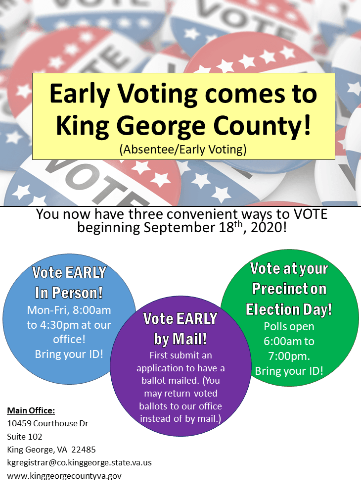 Early Voting comes to King George County!