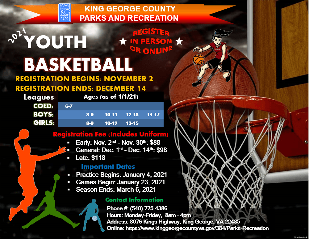 2021 Youth Basketball Flyer Update Nov 16