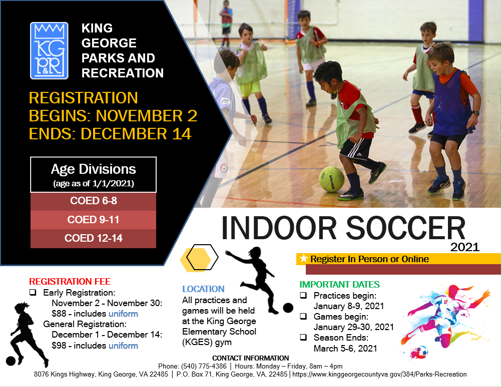 2021 Youth Indoor Soccer Flyer Updated 2