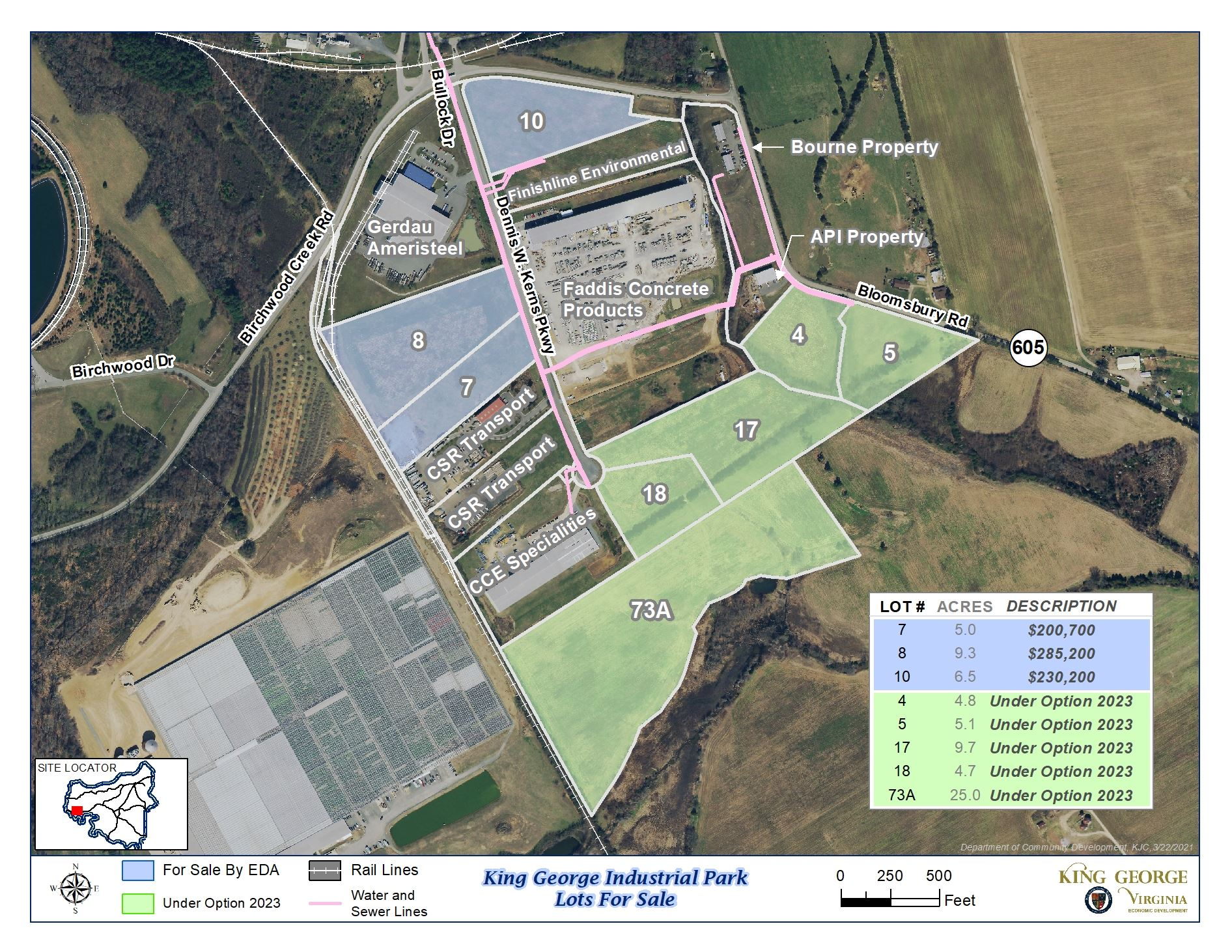 Industrial Park Lots For Sale